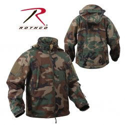 ROTHCO Special OPS Tactical Softshell Jacka Woodland Camo