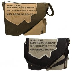 Vintage 2-Tone MAP CASE shoulder bag