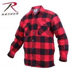Rothco Extra Heavyweight Buffalo Plaid Sherpa-lined Flannel Shirts - Red