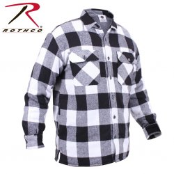 Rothco Extra Heavyweight Buffalo Plaid Sherpa-lined Flannel Shirts - Vit