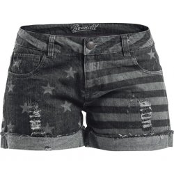 Brandit Denim Hotpants Short Dam - Grå