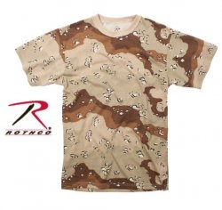 Rothco T-Shirt 6 Color DESERT CAMOUFLAGE