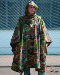 US Regnponcho Woodland Ripstop