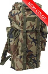Bundeswehr Tysk Combat Backpack 65L - Woodland camo