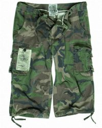 Mil Tec Vintage AIR COMBAT 3/4-SHORT WOODLAND