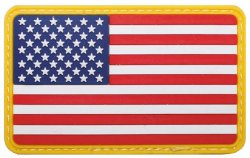 US Flagga Patch i Gummi -Gul