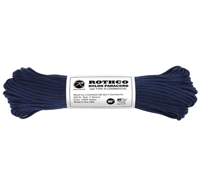 Amerikansk Paracord Original MIDNIGHT Blå 30meter