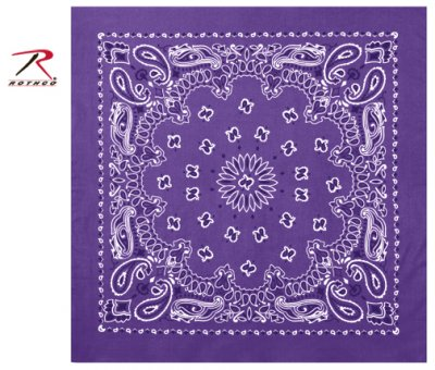 Rothco Trainmen Bandana Purple/Vit