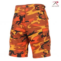 Rothco BDU Shorts - Savage Orange Camo