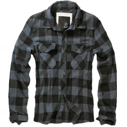 Brandit Flanell Shirt - Black/Grey