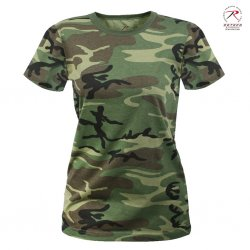 Woodland Camo T-Shirt - Women
