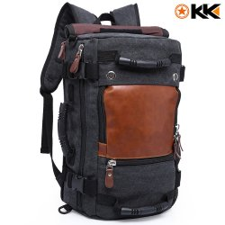 Kaka Canvas Hiking Backpack 40L - Black