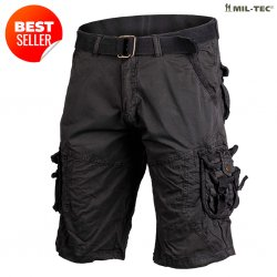 Mil-Tec Vintage Survival Shorts - Black