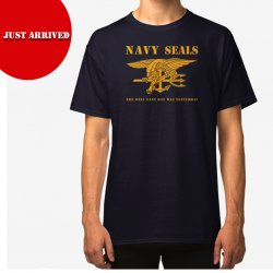 T Shirt NAVY SEALS - Marinblå