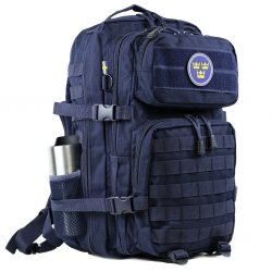 Nordic Army® Assault backpack mesh pocket 28L - Navy Blue