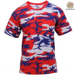 Rothco T-Shirt - Red White Blue Camo
