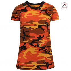 Rothco Women´s T-Shirt - Savage Orange Camo