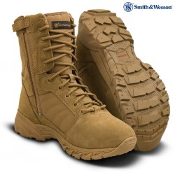 SMITH & WESSON® Breach 2.0 Waterproof Side-Zip Boots - Coyote