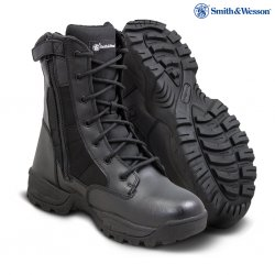 SMITH & WESSON® Breach 2.0 Men's Tactical Waterproof Side-Zip Boots - Black
