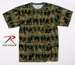 US Rothco t-shirt med Soldat Camo tryck