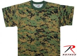 Rothco T-Shirt Digital Woodland
