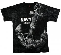 T-Shirt Vintage Black NAVY ANCHOR