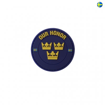 3D PVC Swedish Patch Our Honor - Marinblå