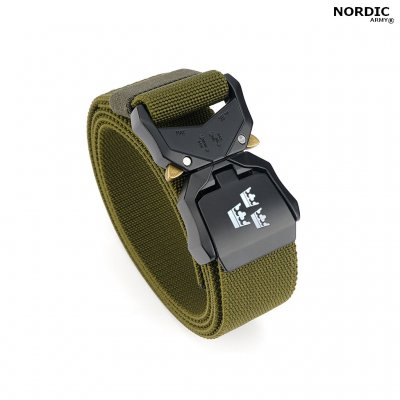 Nordic Army® Tactical Stretch bälte 3 kronor - Grön