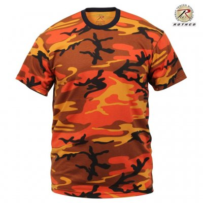 Rothco T Shirt - Orange Camo