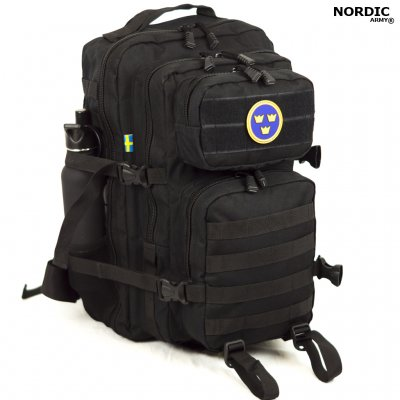 Nordic Army Assault II Backpack Flygvapnet - 50L Black