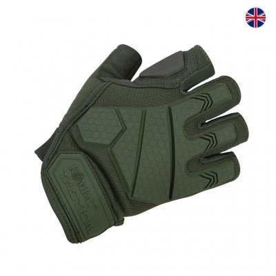 Brittisk Alpha Fingerless Tactical Handskar - Grön