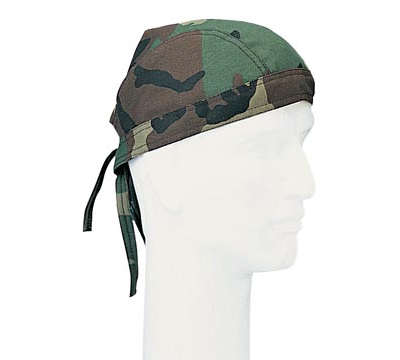 US Headwrap Woodland Camo
