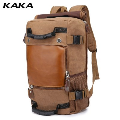 Kaka Canvas Hiking Backpack 40L - Coffee
