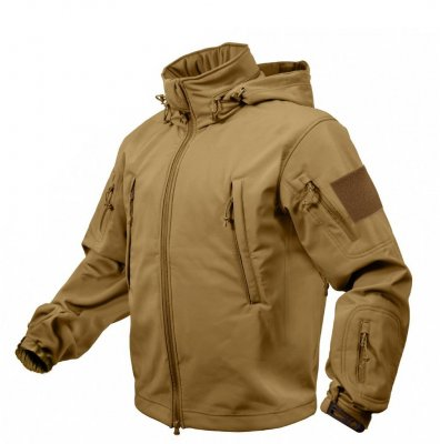ROTHCO Special OPS Tactical Softshell Jacka herr Coyote Brun