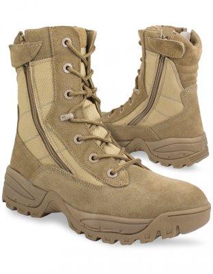 Mil Tec Boots SWAT 2 Side Zip - Coyotebrun