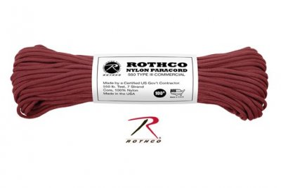Paracord 550 Original BURGUNDY 30 meter