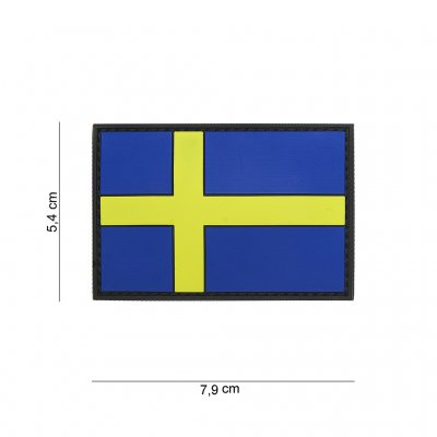 Patch 3D PVC Sweden Flagga