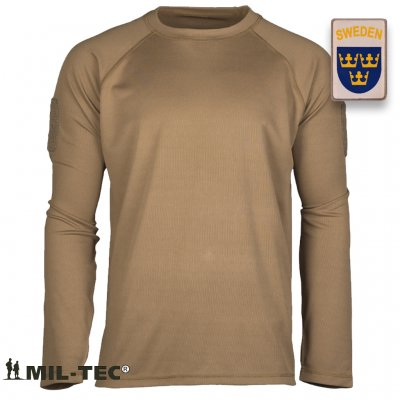 OD TACTICAL LONG SLEEVE SHIRT QUICKDRY - Coyote Brun
