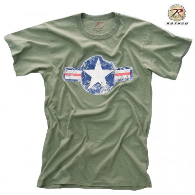 Rothco T Shirt ARMY AIR CORP Olivgrön