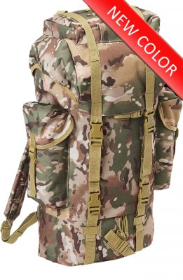 Bundeswehr Tysk Combat Backpack 65L - Tactical Camo