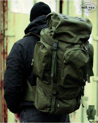 Sturm RECON Militärryggsäck i 88L Olivgrön för vandring - Army Gross 08cfd7ee26a3f