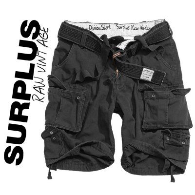 Brand New Surplus Raw Vintage Division Shorts Svart