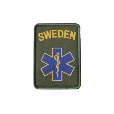 Swedish Medic Patch with Velcro - Army Green