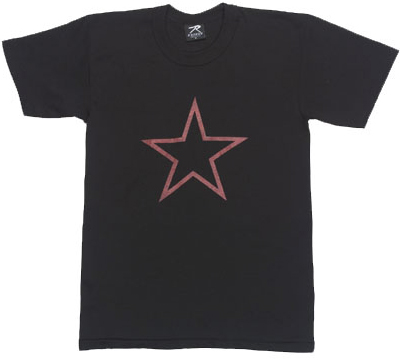 T-Shirt RED CHINA STAR Svart