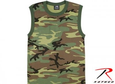 T-SHIRT Muskel Woodland Camo