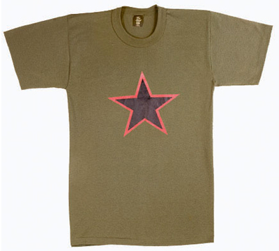 T-Shirt RED CHINA STAR OD