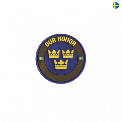 3D PVC Swedish Patch Our Honor - Army Green