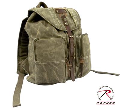 68b5e301e8d Vintage Stone Vasket rygsæk med læderdetaljer