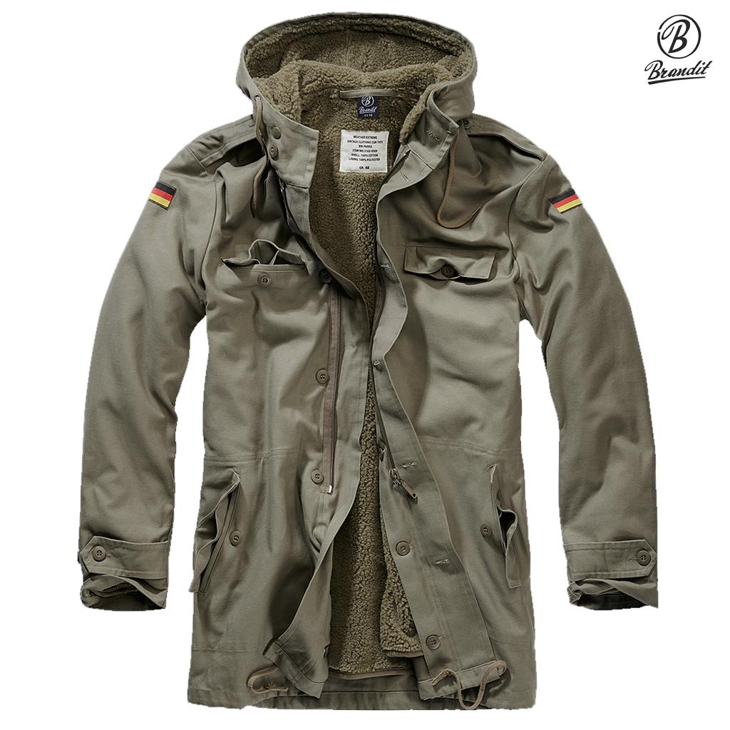 Brandit BW Army Parka OD M65 Jackets Clothing