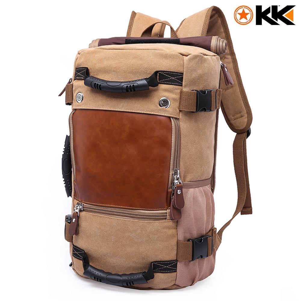 Kaka Canvas Hiking Backpack 40L Svart